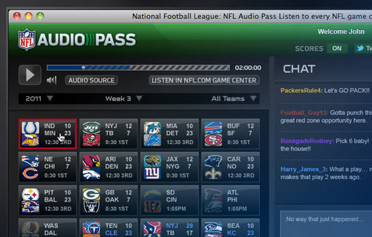 Listen to NFL Games Online